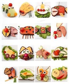 funny food - creative food prepared for young and old You are in the right place about food art diy Cute Snacks, Snacks Für Party, Cute Food, Good Food, Funny Food, Fun Funny, Food Art For Kids, Cooking With Kids, Toddler Meals