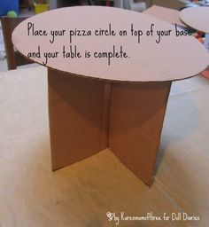 How to make a doll table from cardboard