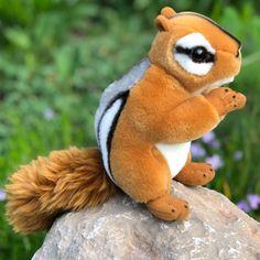 Mini Plush Chipmunk measuring 6 Inches #plush #plushies #stuffedanimals Chipmunks, Plushies, Pet Toys, 6 Inches, Lamb, Teddy Bear, Mini, Animals, Animales