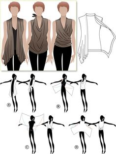 Australian pattern company : Style Arc. Clever Clair top wear it many ways - sewing pattern