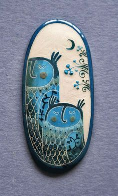 'Night Owls' brooch – etsy Baubukas