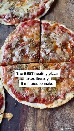 Healthy Pizza, Good Healthy Recipes, Healthy Cooking, Cooking Recipes, I Love Food, Good Food, Yummy Food, Easy Snacks, Healthy Snacks