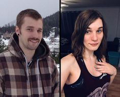 A place to share transition timelines. Transgender Mtf, Male To Female Transgender, Transgender People, Male To Female Transition, Mtf Transition, Facial Feminization Surgery, Mtf Hrt, Petticoated Boys, Male To Female Transformation