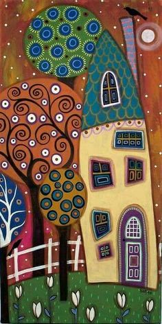 Weiße Tulpen von Karla Gerard: – tranh ve hoc sinh – Kreativ Decoupage, Karla Gerard, House Quilts, White Tulips, Arte Popular, Motif Floral, Naive Art, Whimsical Art, Art Plastique