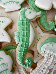 Chrissy seahorse shortbreads - adorable!!!