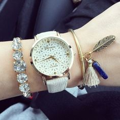Cute floral teen girl party watch