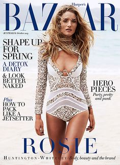 Rosie Huntington-Whiteley for Harpers Bazaar Australia October 2013 #magazine