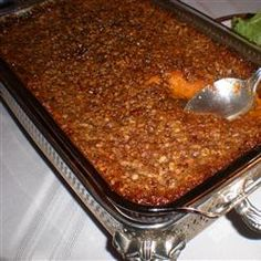 Gourmet Sweet Potato Casserole: Possibly the best sweet potatoes I've ever had, everyone at Thanksgiving dinner RAVED about them :)...Another one I have to try