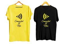 T-shirt Couple, Cute Couple Shirts, Custom T Shirt Printing, Fabric Material, Tshirts Online, Cute Couples, India, T Shirts For Women, Prints