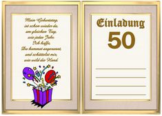 einladung geburtstag : einladung geburtstag 50 - Geburstag Einladungskarten - Geburstag Einladungskarten