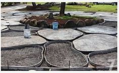 DIY concrete pavers looking like flagstone. Love this for our back/side yard where I want to do a hard scape. (scheduled via http://www.tailwindapp.com?utm_source=pinterest&utm_medium=twpin&utm_content=post48041036&utm_campaign=scheduler_attribution)