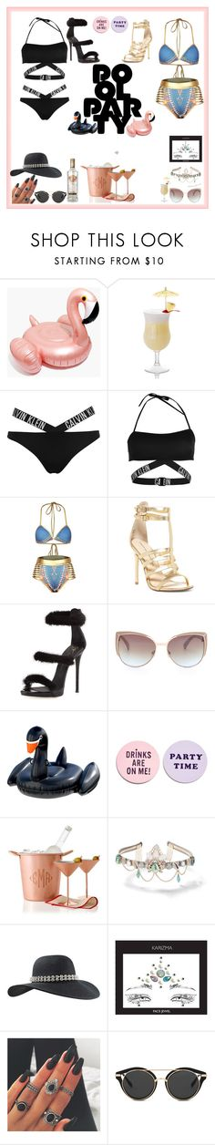 """""""Pool party💃"""" by styler208 ❤ liked on Polyvore featuring Madewell, Calvin Klein, Chinese Laundry, Giuseppe Zanotti, Floatie Kings, ban.do, Mark & Graham and Miss Selfridge"""