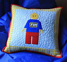 Lego pillow for boys Click on the photo here to see the pillow  but the free pattern (& many others free/small fee) is here http://pinterest.com/pin/301741243754872047/