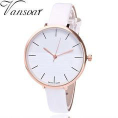 4cc42246697 Vansvar Brand Women Bracelet Watch Fashion Leather Simple Women Dress Wrist  Watches Luxury Business Clock Watch Relogio Feminino