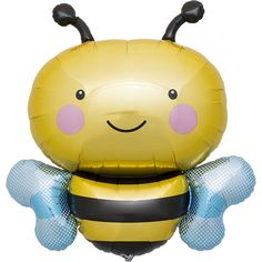 BUMBLE BEE BALLOON - Yellow & Black perfect for a bee themed birthday party or a picnic / bbq party. Sold by Bonjour Fete - A party supply boutique Check out our store for more inspiration and ideas!