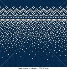 Christmas Sweater Design. Seamless Knitting Pattern