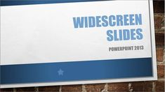 Read the ultimate guide to widescreen presentations in PowerPoint!