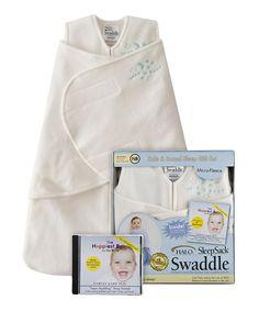 Look at this #zulilyfind! Halo Cream Star & Moon Fleece SleepSack Swaddle Set - Infant by Halo #zulilyfinds