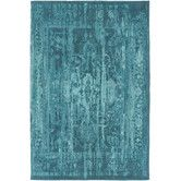 Found it at AllModern - Elegant Maya Hand-Woven Teal Area Rug