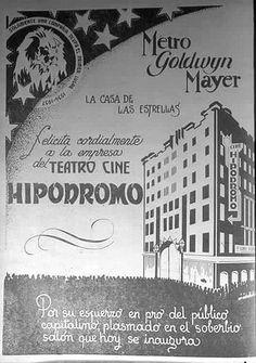 Tacubaya, cartel por la inauguración del cine Hipódromo, 11 de abril de 1936.