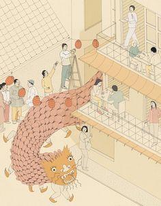 A selection of works by Bristol-based illustrator Harriet Lee-Merrion. More images below. Harriet Lee-Merrion's Website