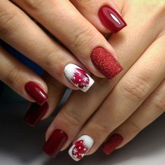 If you are getting ready for the holidays by painting a winter wonderland on your nails, these Cutest Christmas Nail Art DIY Ideas will surely give you a cheerful Christmas season this year. Shellac Nail Designs, Shellac Nails, Red Nails, Nail Art Designs, Santa Hat Nails, Mickey Nails, Elegant Nail Designs, Winter Nail Designs, Cute Christmas Nails