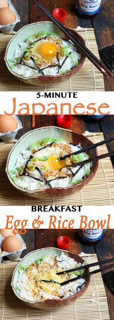 Japanese breakfast rice and egg bowl is super fast and delicious // Endurance Zone