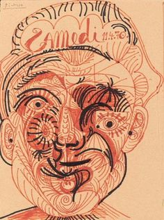 Tête d`Homme 1, 1970|© Pablo Picasso