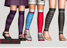 Children Stitched Multicolor Knee High Sock by NyGirl - Sims 3 Downloads CC Caboodle
