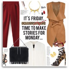 It´s Friday, time to make stories for Monday with Shein.com by hamaly on Polyvore featuring moda, Derek Lam, Aquazzura, BaubleBar, Louis Vuitton, Topshop, Deborah Lippmann, Laura Mercier, ootd and Sheinside