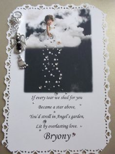 BABY MEMORIAL ,for loss or miscarriage of a baby. Personalised verse and handbag charm keepsake