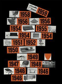 karenh:  vintage ads for Herman Miller (above Timeline advertisement, c. 1960)