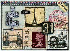 Travel Inchies Artist Trading Cards
