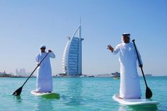 Stand-up paddle boarders. | 35 Things You See Every Day In Dubai