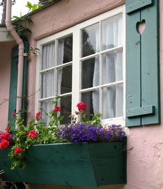 """Shutters and windowbox - HUGH COMSTOCK'S """"THE ELIZABETH ARMSTRONG COTTAGE"""""""