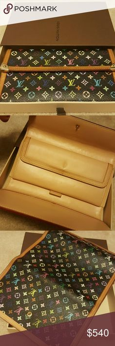 REDUCED⬇RARE💎Louis Vuitton Limited Edt.Trifold GORGEOUS LV Multi colored, Monogram Trifold lots of storage spaces! Amazing condition, Minimal color fade. Date code  is legible however  very hard to snap a photo at night time. ( I will be glad to take some during the day if interested  on buying nor trading TRADE: another LV wallet or Chanel even Trade Value might be higher if not comparable trade $650 Louis Vuitton Bags Wallets