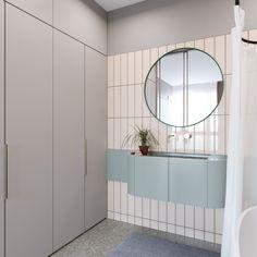 56 Modern Bathroom That Make Your Home Look Fabulous - Luxury Interior Design Diy Bathroom Vanity, Bathroom Shower Curtains, White Bathroom, Bathroom Furniture, Bathroom Interior, Yellow Bathrooms, Large Bathrooms, Small Bathroom, Futuristisches Design