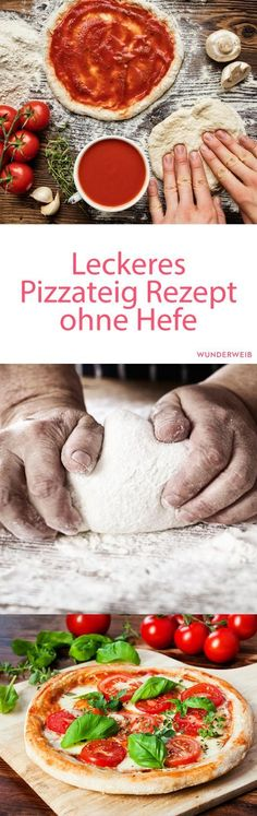 Make pizza dough without yeast yourself: The recipe - Rezepte - Entree Recipes, Pizza Recipes, Grilling Recipes, Vegetarian Recipes, Cooking Recipes, Healthy Recipes, Quiches, Easy Homemade Pizza, Good Food