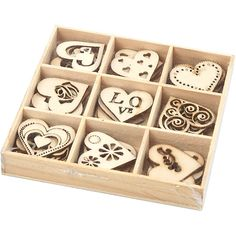Wooden display box with wooden embellishments by SamanthaKGifts