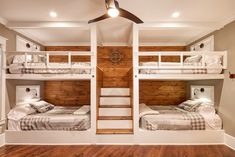 Classic Lake House Custom Home Bunk Bed Rooms, Bunk Beds Built In, Modern Lake House, House On A Lake, Lake House Plans, Home Bedroom, Lake House Bedrooms, Lake House Interiors, Bedroom Furniture