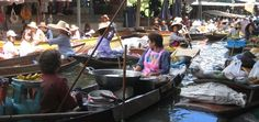 Floating market, Bangkok.  This looks like a good link for a possible 3 day itinerary of bangkok!