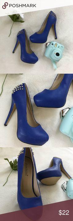 Shoedazzle Blue Spike High Heels Blue spike high heels. In great condition ShoeDazzle Shoes Heels