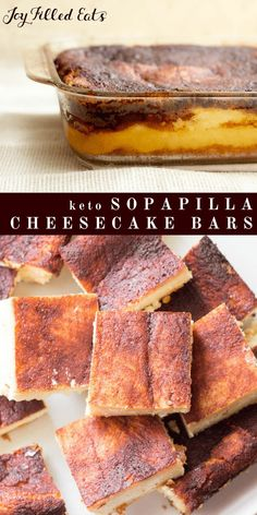 Sopapilla Cheesecake Bars - Keto, Low Carb, Sugar, Gluten, & Grain Free, THM S - Have you ever had Sopapilla? They taste like a snickerdoodle cookie and a cheesecake had a baby.