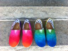 Hand Dye Paez shoes by Teresa H. Mello