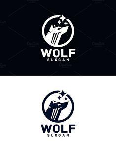 Icon Photography, Animal Logo, Text Color, Vector File, Logo Templates, Slogan, Wolf, Wall Art, Illustration