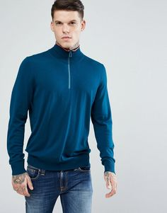 Get this Ps By Paul Smith's knit pullover now! Click for more details. Worldwide shipping. PS by Paul Smith Merino Half Zip Jumper in Teal - Blue: Jumper by PS By Paul Smith, Fine knit, Soft-touch finish, Funnel neck with contrast trim, Zip fastening, Ribbed trims, Regular fit - true to size, Machine wash, 100% Merino Wool, Our model wears a size Medium and is 185.5cm/6'1 tall. Designed in the UK, PS by Paul Smith bears all the hallmarks of Sir Paul Smith�s individual and quintessentially…