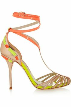 Sophia Webster Alicia patent & metallic leather sandals