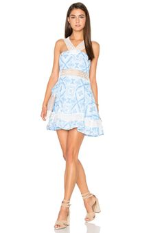 Lucca Couture Halter Neck Swing Dress in Wave Print | REVOLVE