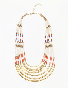 Bershka Georgia - Metallic detail necklace
