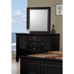 devine dresser in black finish contemporary dressers chests and bedroom armoires modern furniture warehouse coaster furniture pinterest